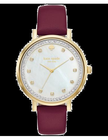 Chic Time | Montre Femme Kate Spade Monterey KSW1170 Rouge  | Prix : 183,20€
