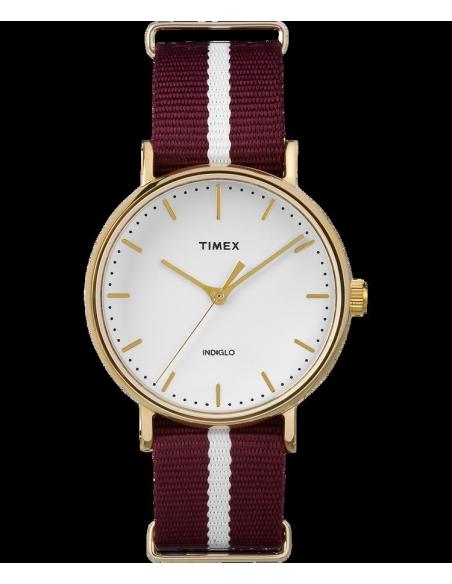 Chic Time   Montre Femme Timex Weekender Fairfield TW2P981009J Rouge    Prix : 49,00€