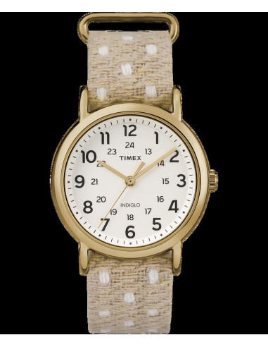 Chic Time   Montre Femme Timex Weekender TW2R105009J Beige    Prix : 47,20€
