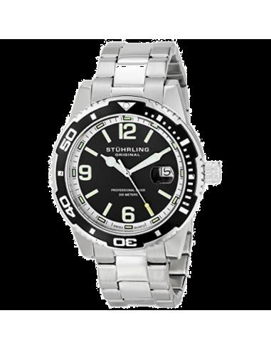 Chic Time | Montre Homme Stuhrling Original Aquadiver 415.01 Argent  | Prix : 179,99€