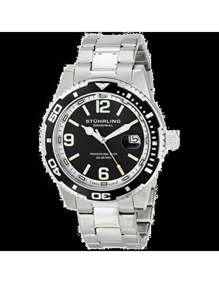 Chic Time   Montre Homme Stuhrling Original Aquadiver 415.01 Argent    Prix : 179,99€
