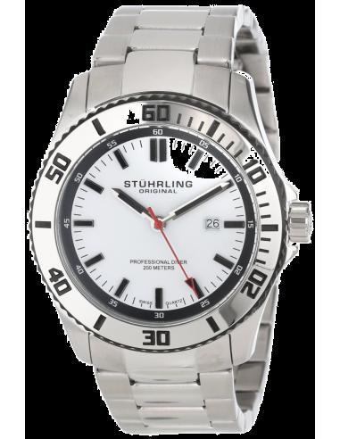 Chic Time | Montre Homme Stuhrling Original Aquadiver 714.01 Argent  | Prix : 139,90€