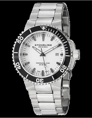 Chic Time | Montre Homme Stuhrling Original Aquadiver 749.01 Argent  | Prix : 136,99€