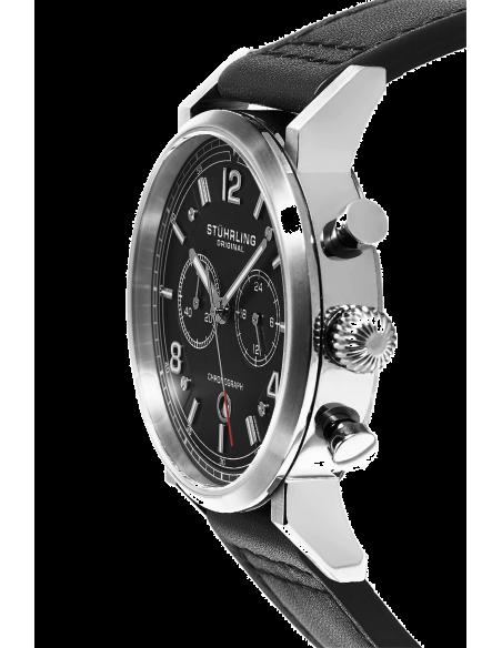 Chic Time | Montre Homme Stuhrling Original Aviator 583.01 Noir  | Prix : 169,90€