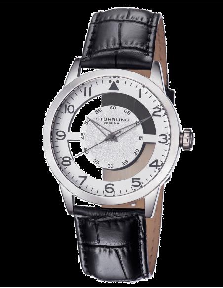 Chic Time | Montre Homme Stuhrling Original Aviator 650.01 Noir  | Prix : 105,90€