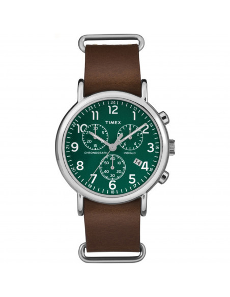 Chic Time | Montre Homme Timex Weekender TW2P974009J Marron  | Prix : 63,20 €