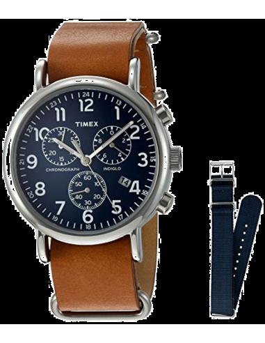Chic Time   Montre Homme Timex Weekender TWG012800QM Marron    Prix : 89,00€