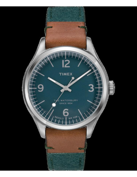Chic Time | Montre Homme Timex Waterbury TW2P95700ZA Vert  | Prix : 79,20€