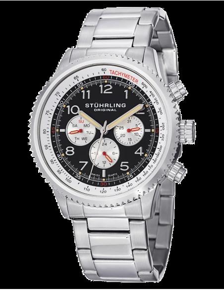 Chic Time | Montre Homme Stuhrling Original Monaco 858B.01 Argent  | Prix : 129,99€