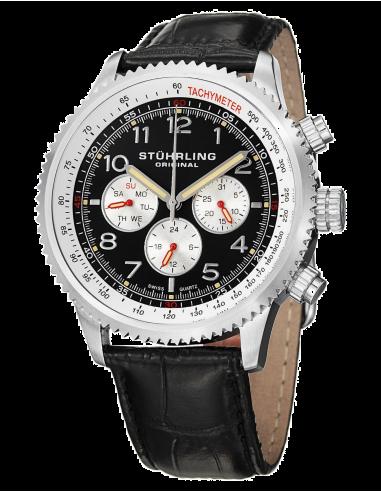 Chic Time | Montre Homme Stuhrling Original Monaco 858L.01 Noir  | Prix : 115,90€
