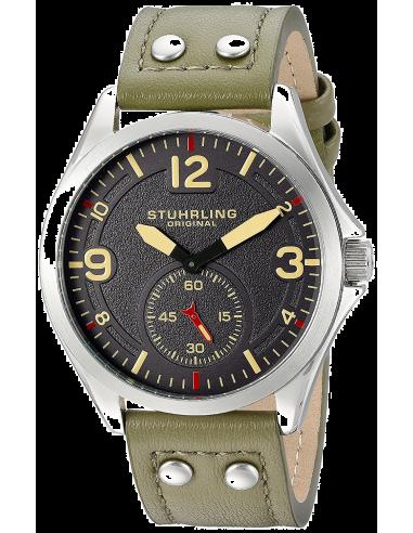 Chic Time | Montre Homme Stuhrling Original Aviator 684.03 Vert  | Prix : 365,00€