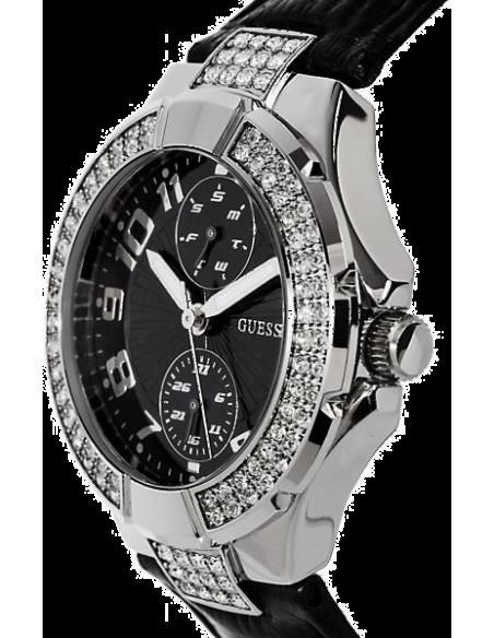 Chic Time | Montre Guess Prism U10580L2 Cuir noir façon croco  | Prix : 149,00€