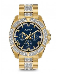 Chic Time | Montre Homme Bulova Crystal 98C128 Or  | Prix : 969,00 €