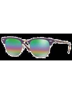 Chic Time | Lunettes de soleil Ray-Ban Clubmaster RB3016 1221C3 Metallic Medium Bronze  | Prix : 160,00€