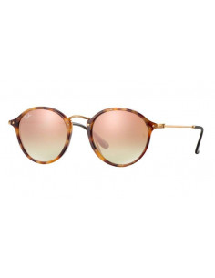 Chic Time   Lunettes de soleil Ray-Ban Round Fleck RB2447 1160 7O Cuivre cce1dbd53708
