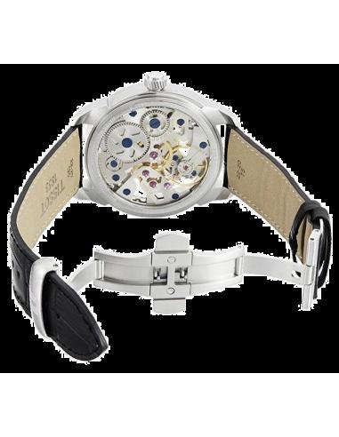 Chic Time | Montre Homme Tissot T-Complication Squelette T0704051641100 Bracelet Cuir Noir  | Prix : 1,408.33