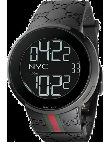 Chic Time | Montres de prestige Homme Gucci I-Gucci YA114207 Noir  | Prix : 949,50€