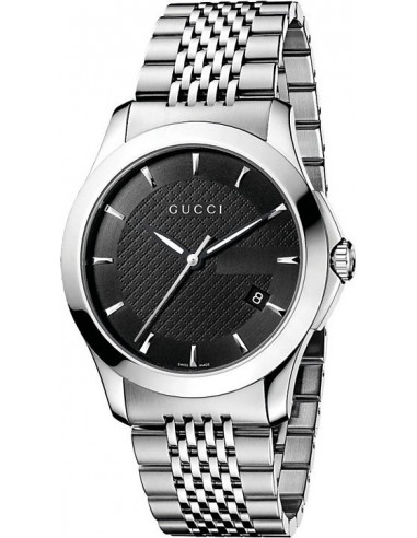 Chic Time | Montre Homme Gucci Timeless YA126402 Argent  | Prix : 595,00€
