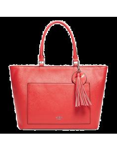 Chic Time | Sac à Main Guess Nido Rouge porté épaule  | Prix : 129,00€