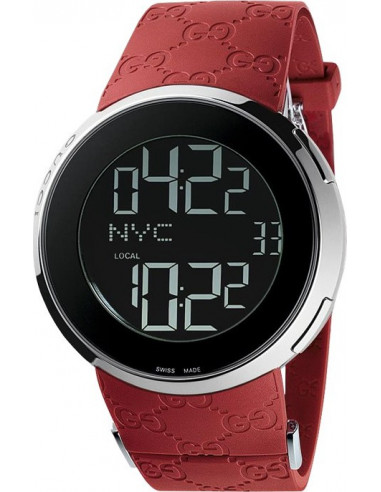 Chic Time   Montre Homme Gucci I-Gucci YA114212 rouge    Prix : 945,00€