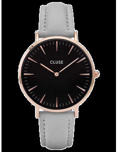 Montre Femme Cluse La Bohème CL18018 Bracelet Cuir Gris