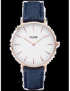 Chic Time | Montre Cluse La Bohème CL18025 Bracelet en Jeans Denim Bleu  | Prix : 62,97€