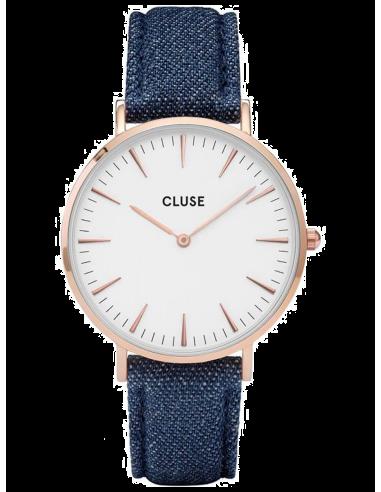 Chic Time | Montre Cluse La Bohème CL18025 Bracelet en Jeans Denim Bleu  | Prix : 58,47€