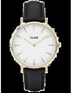 Chic Time | Montre Cluse La Bohème CL18406 Bracelet en cuir noir  | Prix : 58,47€