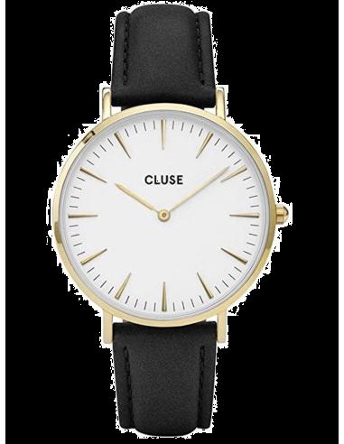 Chic Time | Montre Cluse La Bohème CL18406 Bracelet en cuir noir  | Prix : 62,97€