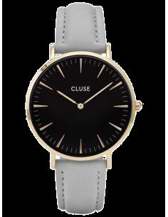 Chic Time   Montre Femme Cluse La Bohème CL18411 Bracelet en cuir noir    Prix : 76,46€