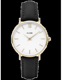 Chic Time | Montre Cluse Minuit CL30019 Bracelet en cuir noir  | Prix : 58,47€
