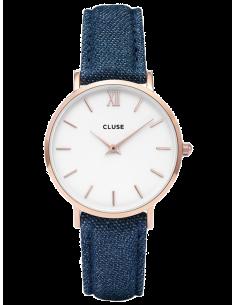 Chic Time | Montre Cluse Minuit CL30029 Bracelet en Jeans Denim Bleu  | Prix : 58,47€