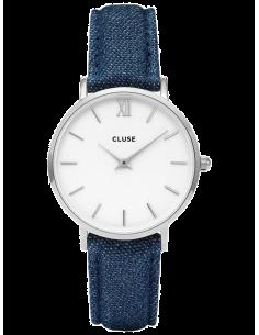 Chic Time | Montre Cluse Minuit CL30030 Bracelet en Jeans Denim Bleu  | Prix : 62,97€