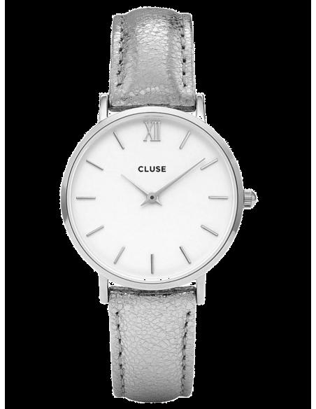 Chic Time | Montre Cluse Minuit CL30039 Bracelet cuir gris électrique  | Prix : 71,96€