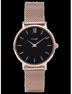 Chic Time | Montre Femme Cluse Minuit Mesh CL30016 Bracelet acier or rose  | Prix : 99,95€