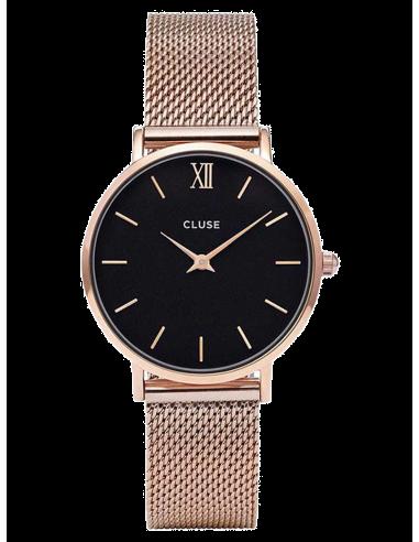 Chic Time | Montre Femme Cluse Minuit Mesh CL30016 Bracelet acier or rose  | Prix : 74,96€