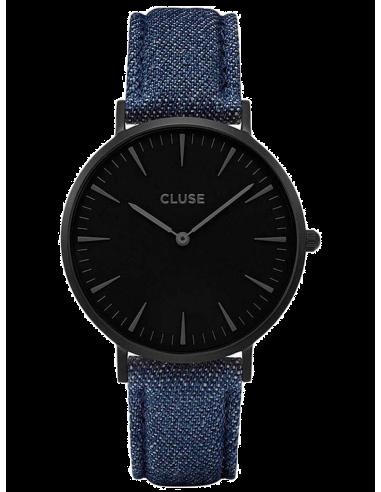 Chic Time | Montre Cluse La Bohème CL18507 Bracelet Jeans Denim Bleu  | Prix : 58,47€