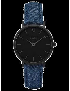 Chic Time | Montre Cluse Minuit CL30031 Bracelet Jeans Denim Bleu  | Prix : 89,95€