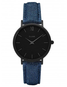 Chic Time | Montre Cluse Minuit CL30031 Bracelet Jeans Denim Bleu  | Prix : 80,96€