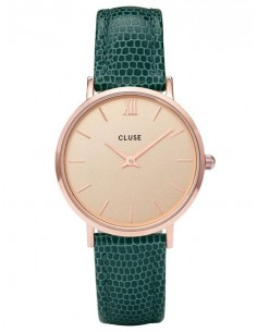 Chic Time | Montre Femme Cluse Minuit CL30052 Vert fond or rose  | Prix : 58,47€