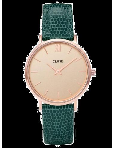 Chic Time | Montre Femme Cluse Minuit CL30052 Vert fond or rose  | Prix : 62,97€