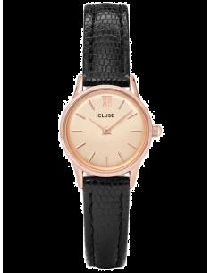 Chic Time | Montre Femme Cluse La Vedette CL50028 Noir fond or rose  | Prix : 58,47€