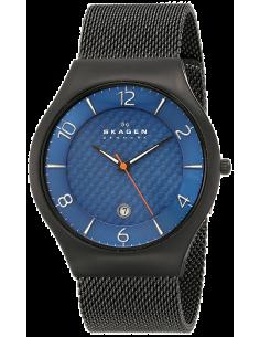 Chic Time | Montre Homme Skagen Grenen SKW6147 bracelet en acier maille milanaise noire  | Prix : 189,00€