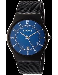 Chic Time   Montre Skagen Grenen T233XLTMN Titanium Noir & Bleu    Prix : 199,00€