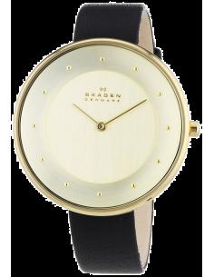Chic Time | Montre Femme Skagen Gitte SKW2262 Bracelet fin en cuir noir  | Prix : 149,00€