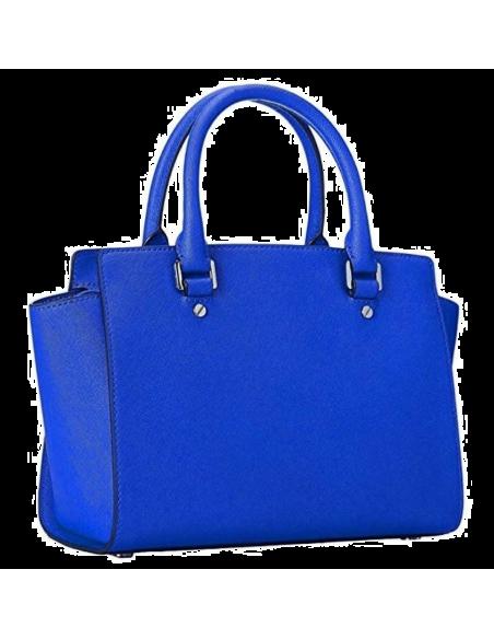Chic Time | Sac à main Michael Kors Selma Sacoche cuir saffiano bleu électrique  | Prix : 350,00€