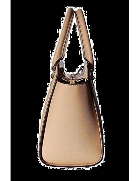 Chic Time | Sac à main Michael Kors Selma Sacoche cuir saffiano beige  | Prix : 350,00€