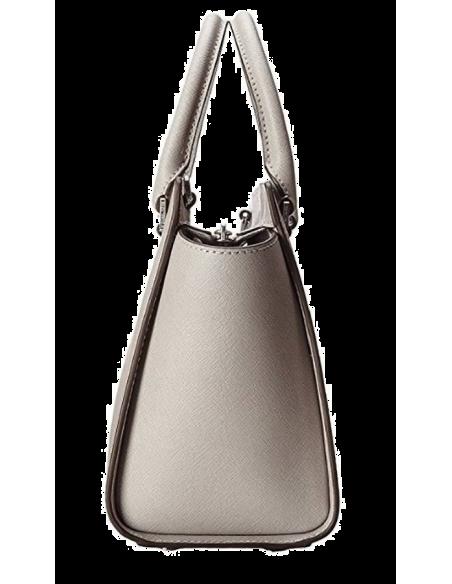 Chic Time | Sac à main Michael Kors Selma Sacoche cuir saffiano gris perle  | Prix : 350,00€