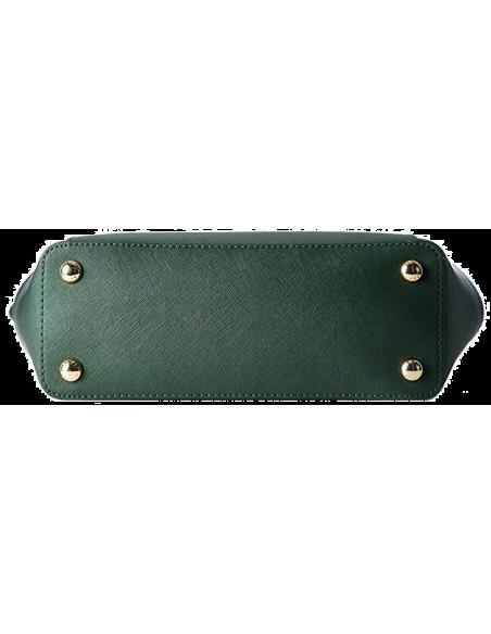 Chic Time | Sac à main Michael Kors Jet Set en cuir vert à glissière sur le dessus   | Prix : 250,00€