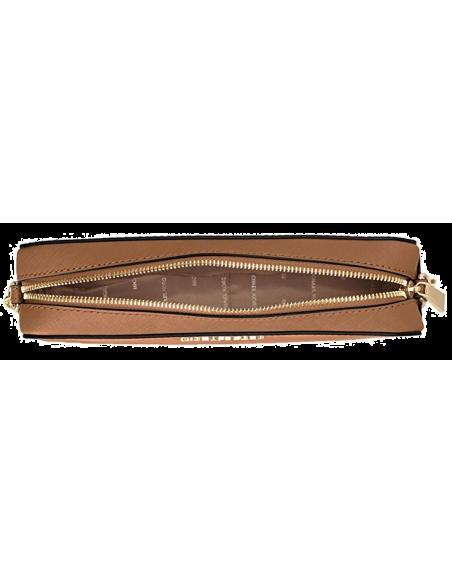 Chic Time | Sac à bandoulière Michael Kors Jet Set en cuir brun Saffiano  | Prix : 195,00€